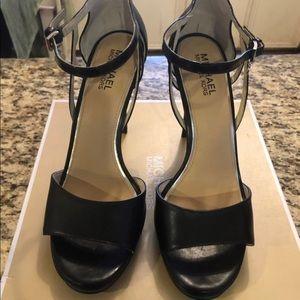 Michael Kors Black belle sandal , use once only .